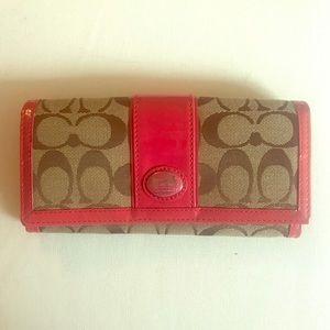 Coach envelope wallet.